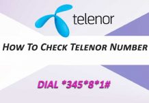Check Telenor Number
