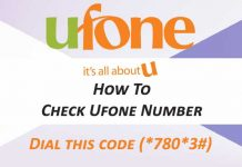 Check Ufone Number