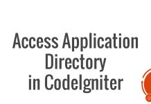 Access Application Directory in CodeIgniter in Live Environment