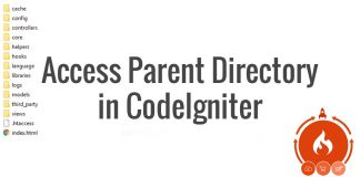 Access Parent Directory in CodeIgniter