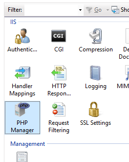 Configuring PHP Manager on IIS