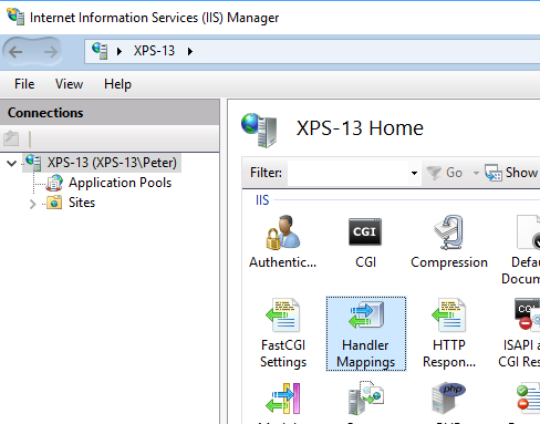 Installing PHP on IIS manually