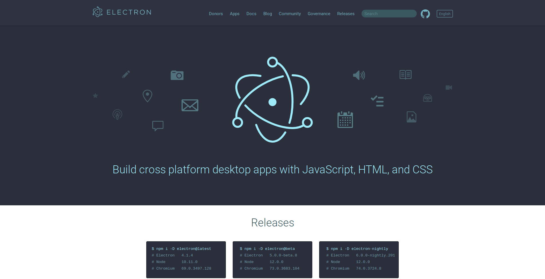 7 Javascript Framework for Creating GUI - Electron