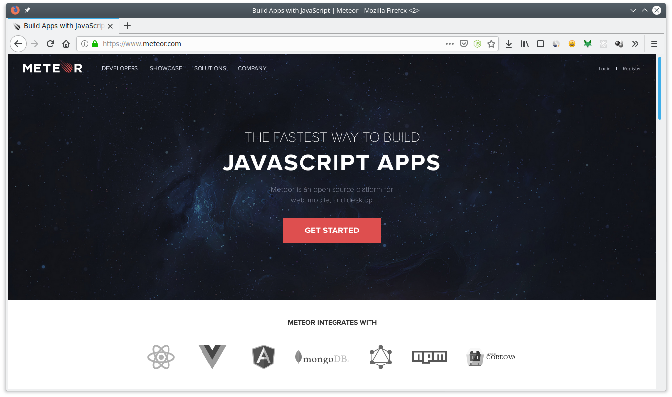 7 Javascript Framework for Creating GUI - Meteor