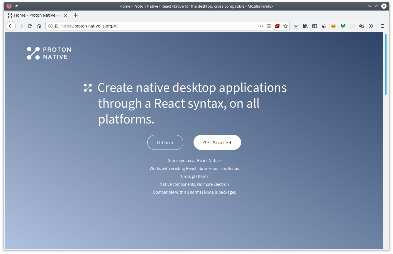 7 Javascript Framework for Creating GUI - Proton Native