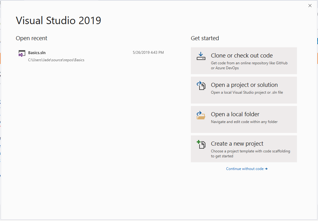 Visual Studio Preview Page