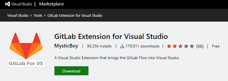 download gitlab extension for visual studio 2019