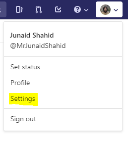 gitlab profile settings