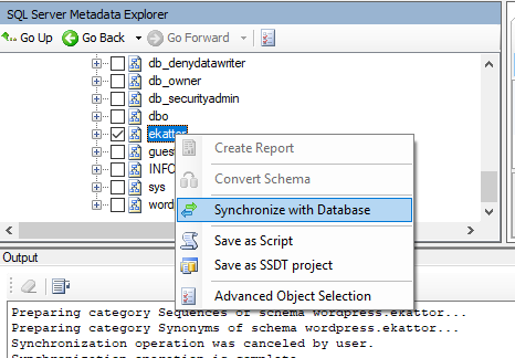MySQL to MSSQL Select SQL Schema to Synchronize with Database